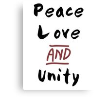 Love Peace and Unity Canvas Print