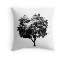 Screen Print Tree Throw Pillow
