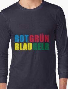 Rot Grün Blau Gelb Long Sleeve T-Shirt
