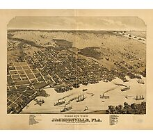 Birds eye view of Jacksonville Florida (1876) Photographic Print