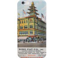 1900s Chinese Bazaar department store Chinatown San Francisco iPhone Case/Skin
