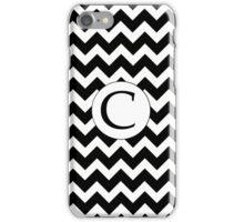 C Black Chevron iPhone Case/Skin
