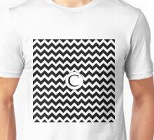 C Black Chevron Unisex T-Shirt