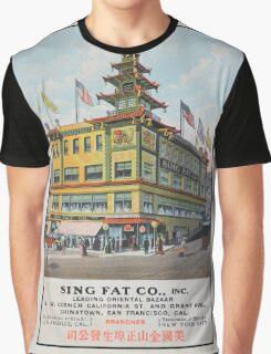 1900s Chinese Bazaar department store Chinatown San Francisco Graphic T-Shirt