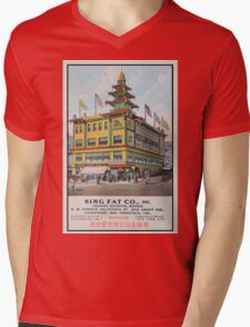 1900s Chinese Bazaar department store Chinatown San Francisco Mens V-Neck T-Shirt