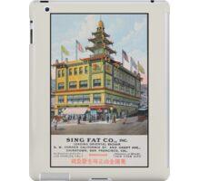 1900s Chinese Bazaar department store Chinatown San Francisco iPad Case/Skin