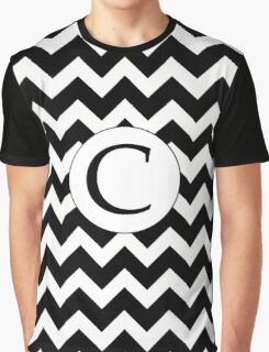 C Black Chevron Graphic T-Shirt