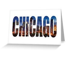 Chicago (Night) Greeting Card
