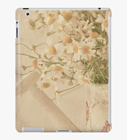Wild Daisies In Watering Can iPad Case/Skin