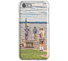 Working at the Pier iPhone Case/Skin
