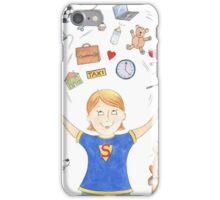 Super Mum - Juggling Mom iPhone Case/Skin