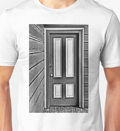 The Old Gray and White Door Unisex T-Shirt