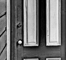 The Old Gray and White Door Sticker