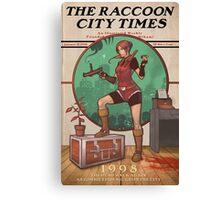 The Raccoon City Times 1998 Canvas Print
