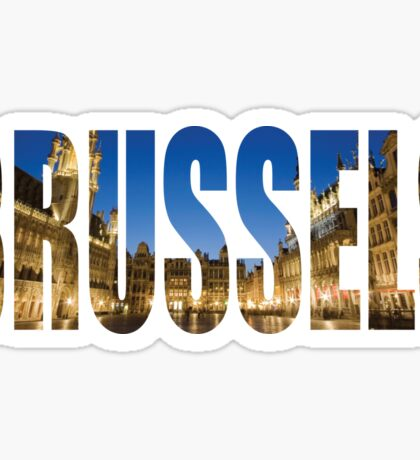 Brussels. Sticker