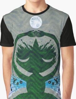Haunted Solstice Moon Winged Thing Graphic T-Shirt