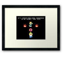 Zelda Simpsons Framed Print