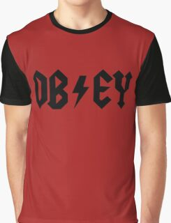 OBEY - AC DC PARODY Graphic T-Shirt