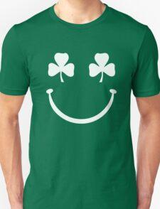 Shamrock Smiley Face Unisex T-Shirt