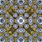 'Cobalt and Gold Mandala' by Scott Bricker