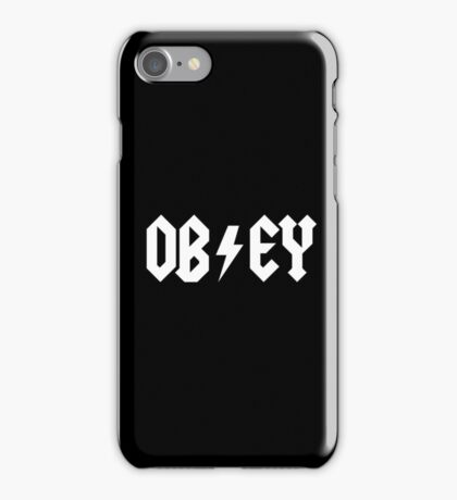 OBEY - AC DC PARODY - Alternate iPhone Case/Skin