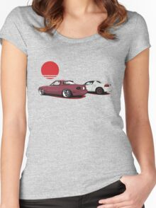 JDM Sunset Women's Fitted Scoop T-Shirt