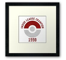 indigo league champion 98 Framed Print