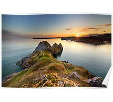 Three Cliffs Bay, Gower Poster