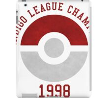 indigo league champion 98 iPad Case/Skin