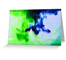 Blue and green ink Greeting Card