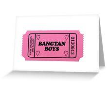 BTS - Ticket Stub Greeting Card
