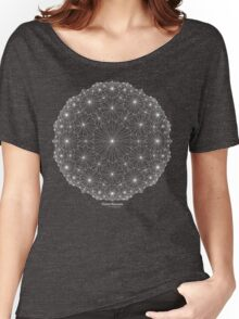 Cluster Blossoms [white design] Women's Relaxed Fit T-Shirt