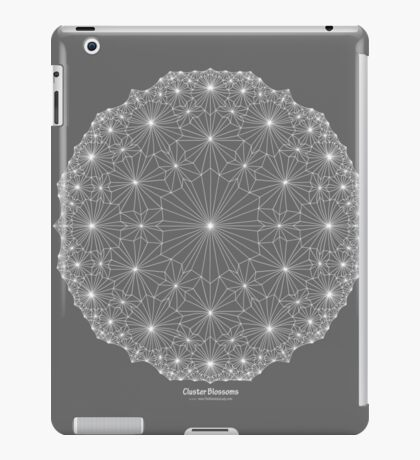 Cluster Blossoms [white design] iPad Case/Skin