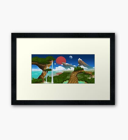 Fantasy Environment Framed Print