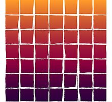 Colorful squares pattern Photographic Print