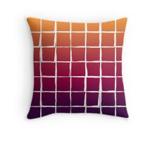 Colorful squares pattern Throw Pillow