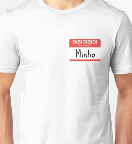 SHINee Minho name tag Unisex T-Shirt