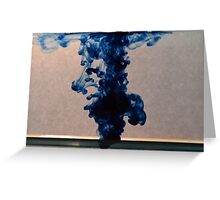 Blue ink drop Greeting Card