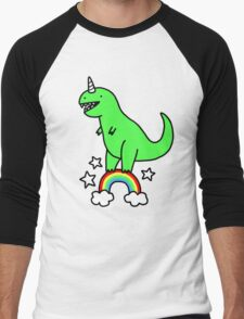 T-Rexicorn Men's Baseball ¾ T-Shirt