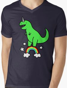 T-Rexicorn Mens V-Neck T-Shirt