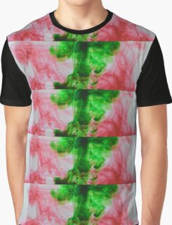 Green and red ink Graphic T-Shirt