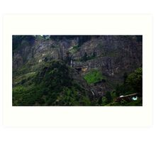 Mountains of Sugran valley Art Print
