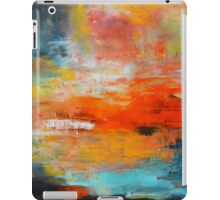 Red abstract sunset landscape painting iPad Case/Skin