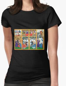 Medieval Scene Womens Fitted T-Shirt