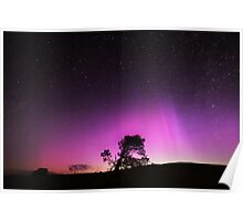 Nothern Lights over Wales Poster