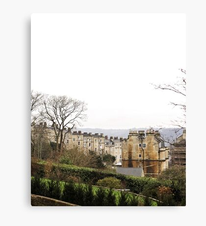 View over Bath from Cavendish Crescent Canvas Print