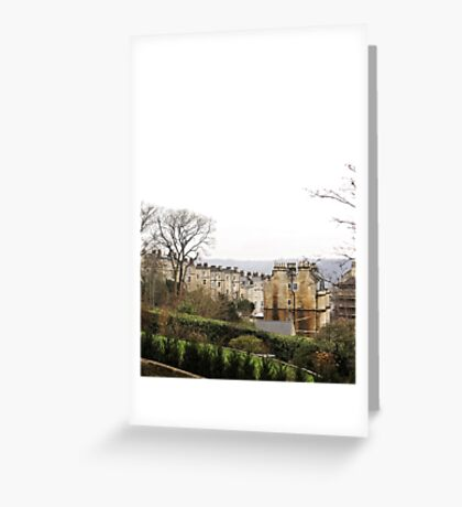 View over Bath from Cavendish Crescent Greeting Card
