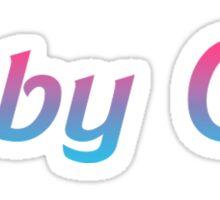 Gradient Baby Girl Sticker