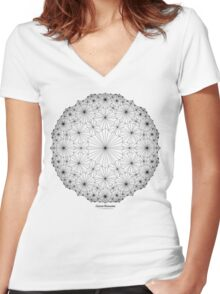 Cluster Blossoms Women's Fitted V-Neck T-Shirt