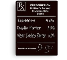 PRESCRIPTION BEER BLACK SHIRT Canvas Print